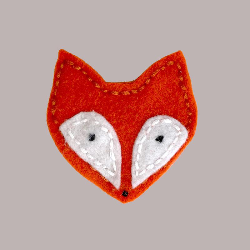 fox hairclip
