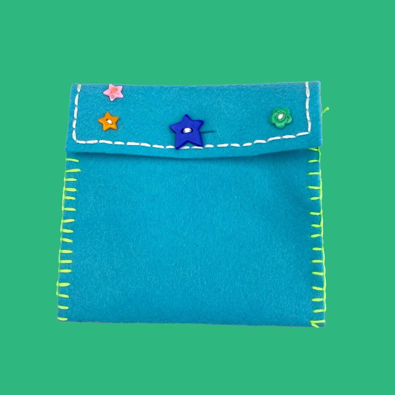 hand sewing kit star flower purse