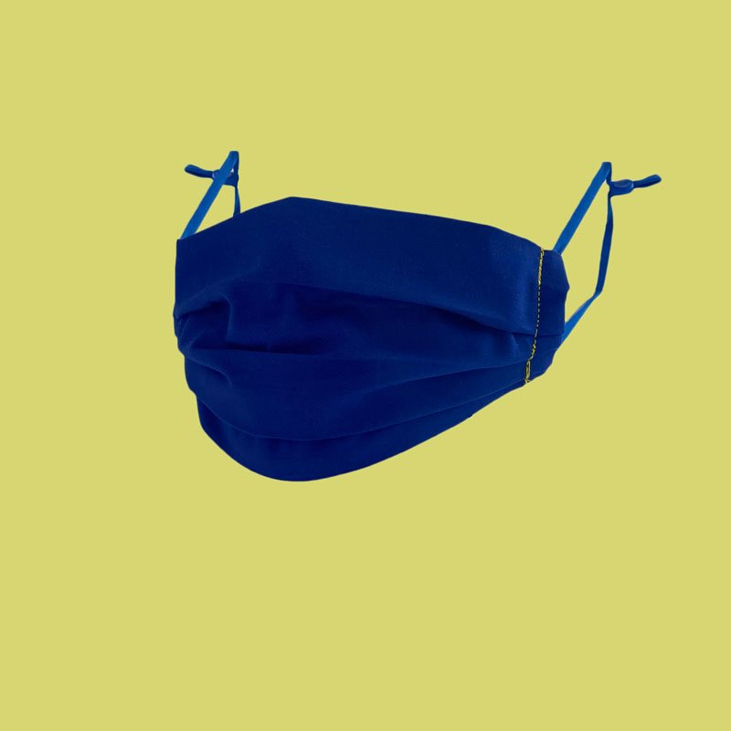 sew what face mask royal blue