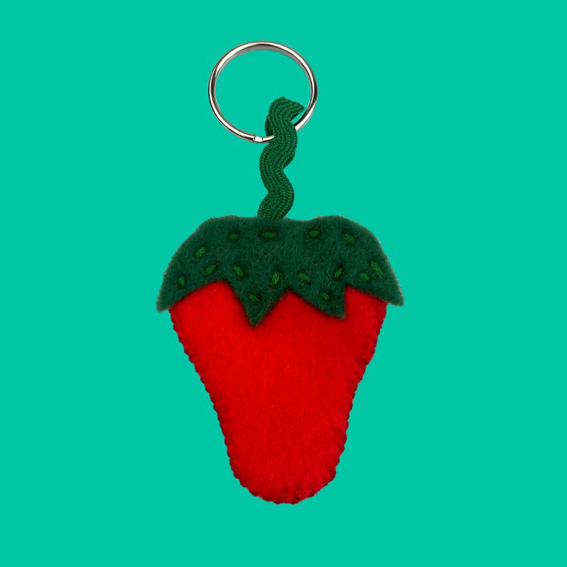 sew what strawberry keyring