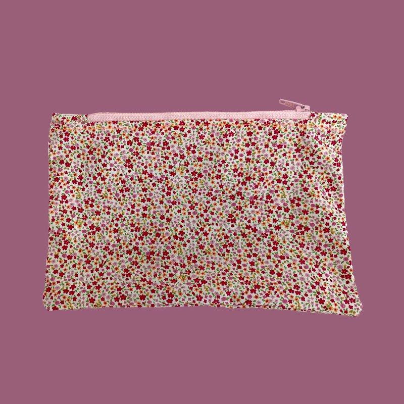 sew what zip bag flowers