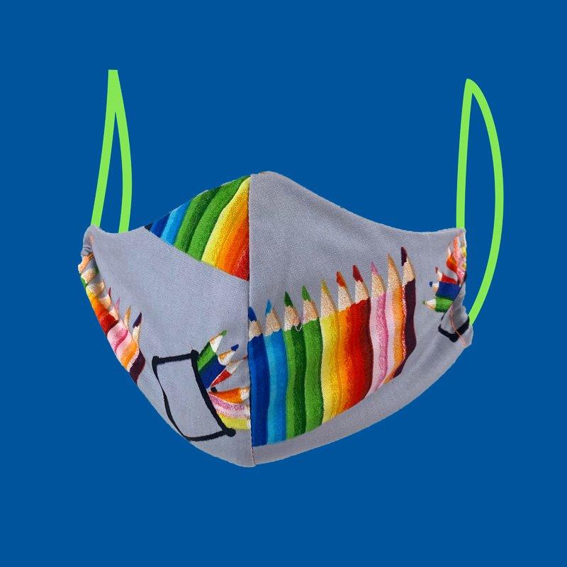 shaped face mask crayons