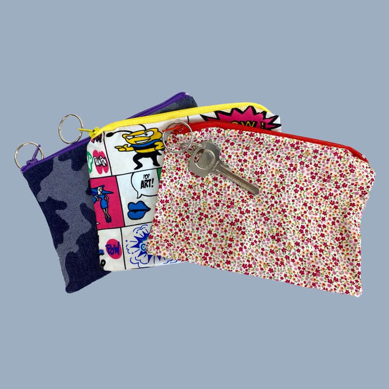 Sew What Zip Bag Face Mask Bag for storing Fabric Face Masks