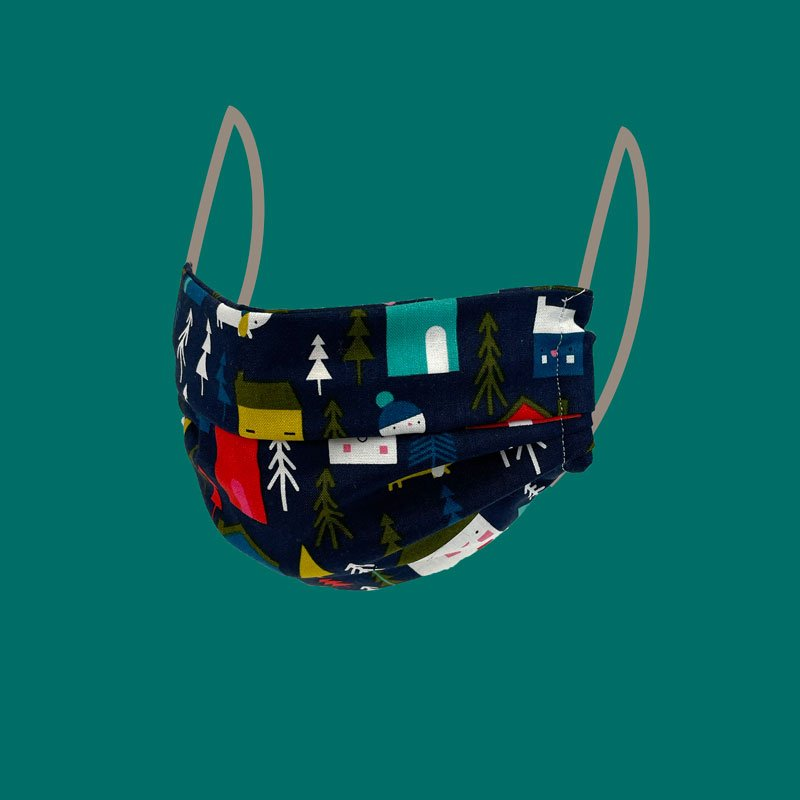 Sew what Xmas Pleated Face Mask