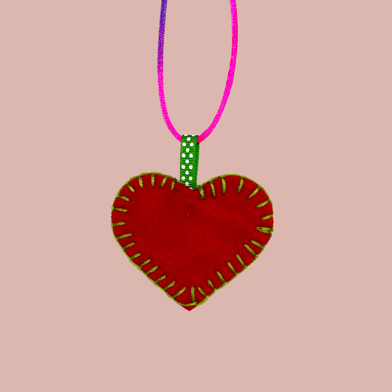 Sew What Heart Necklace 1