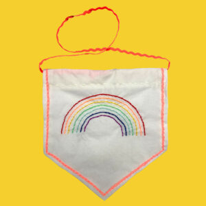 Sew What Rainbow Banner