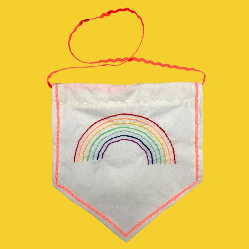Sew What Rainbow Banner